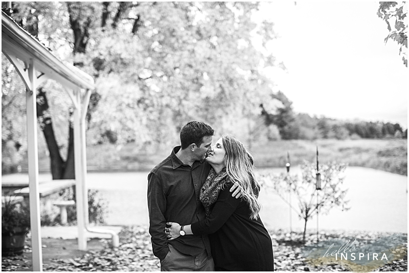 toronto black and white engagement photo
